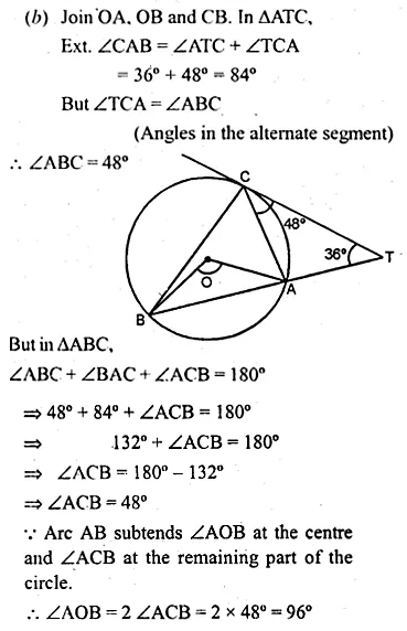 ML Aggarwal Class 10 Solutions for ICSE Maths Chapter 15 Circles Ex 15.3 89