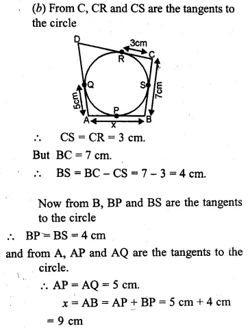 ML Aggarwal Class 10 Solutions for ICSE Maths Chapter 15 Circles Ex 15.3 9