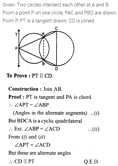 ML Aggarwal Class 10 Solutions for ICSE Maths Chapter 15 Circles Ex 15.3 96