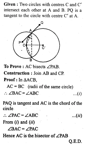 ML Aggarwal Class 10 Solutions for ICSE Maths Chapter 15 Circles Ex 15.3 97