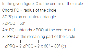 ML Aggarwal Class 10 Solutions for ICSE Maths Chapter 15 Circles MCQS 15