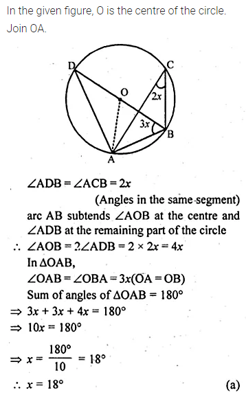 ML Aggarwal Class 10 Solutions for ICSE Maths Chapter 15 Circles MCQS 17