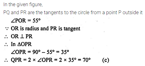 ML Aggarwal Class 10 Solutions for ICSE Maths Chapter 15 Circles MCQS 23