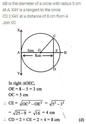 ML Aggarwal Class 10 Solutions for ICSE Maths Chapter 15 Circles MCQS 27