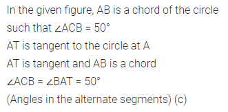 ML Aggarwal Class 10 Solutions for ICSE Maths Chapter 15 Circles MCQS 30