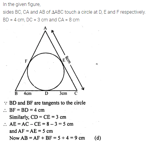 ML Aggarwal Class 10 Solutions for ICSE Maths Chapter 15 Circles MCQS 36