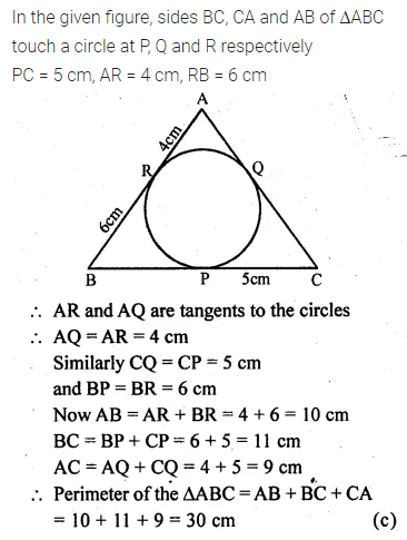 ML Aggarwal Class 10 Solutions for ICSE Maths Chapter 15 Circles MCQS 38