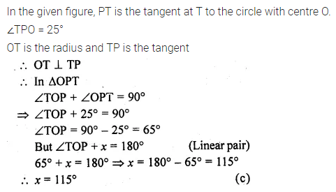 ML Aggarwal Class 10 Solutions for ICSE Maths Chapter 15 Circles MCQS 41