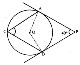 ML Aggarwal Class 10 Solutions for ICSE Maths Chapter 15 Circles MCQS 42