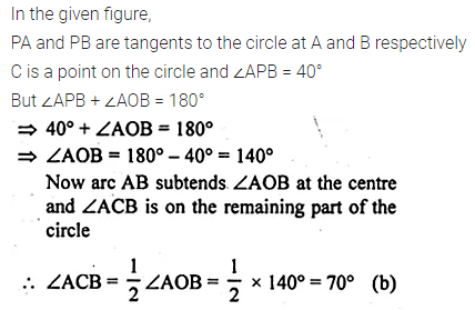 ML Aggarwal Class 10 Solutions for ICSE Maths Chapter 15 Circles MCQS 43