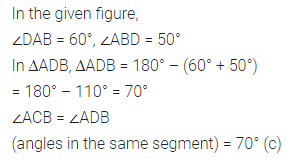 ML Aggarwal Class 10 Solutions for ICSE Maths Chapter 15 Circles MCQS 6