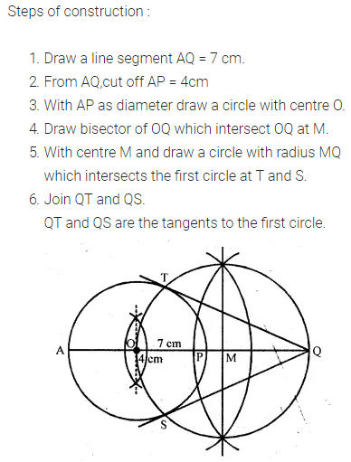 ML Aggarwal Class 10 Solutions for ICSE Maths Chapter 16 Constructions Chapter Test 2