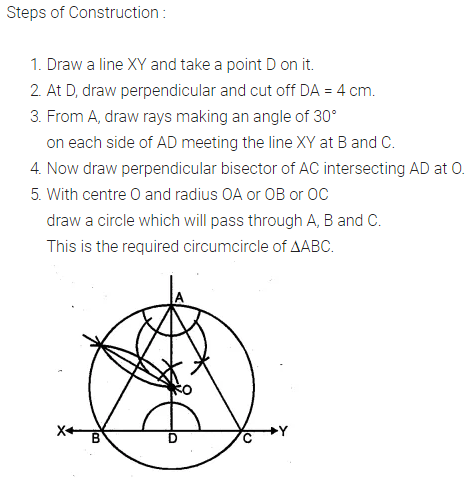 ML Aggarwal Class 10 Solutions for ICSE Maths Chapter 16 Constructions Chapter Test 4