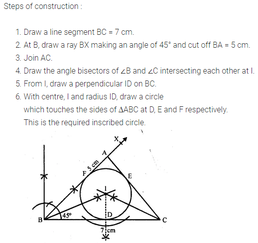ML Aggarwal Class 10 Solutions for ICSE Maths Chapter 16 Constructions Chapter Test 5