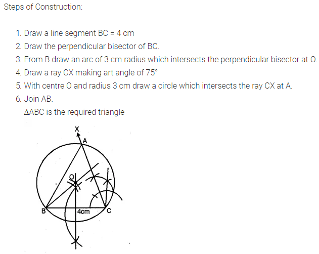 ML Aggarwal Class 10 Solutions for ICSE Maths Chapter 16 Constructions Chapter Test 6