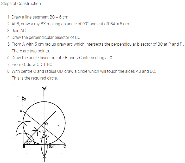 ML Aggarwal Class 10 Solutions for ICSE Maths Chapter 16 Constructions Chapter Test 8