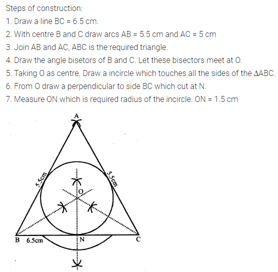 ML Aggarwal Class 10 Solutions for ICSE Maths Chapter 16 Constructions Ex 16.2 8