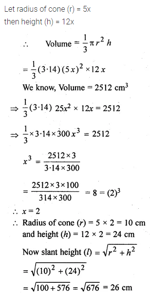 ML Aggarwal Class 10 Solutions for ICSE Maths Chapter 17 Mensuration Chapter Test 13
