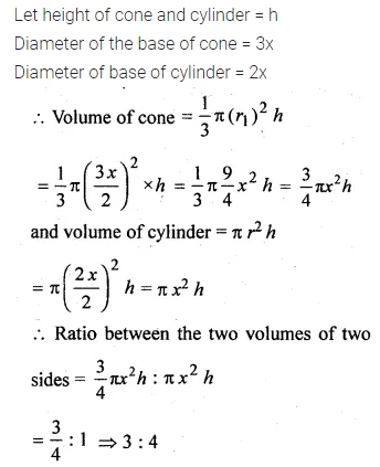 ML Aggarwal Class 10 Solutions for ICSE Maths Chapter 17 Mensuration Chapter Test 14