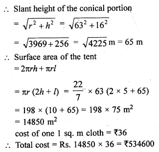 ML Aggarwal Class 10 Solutions for ICSE Maths Chapter 17 Mensuration Chapter Test 19