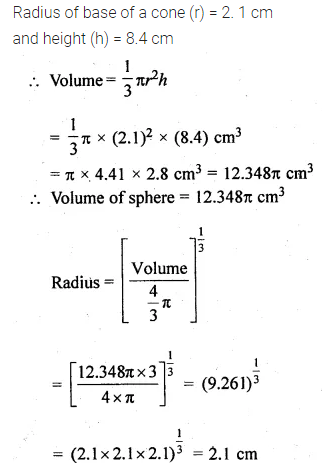 ML Aggarwal Class 10 Solutions for ICSE Maths Chapter 17 Mensuration Chapter Test 22