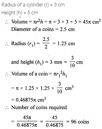 ML Aggarwal Class 10 Solutions for ICSE Maths Chapter 17 Mensuration Chapter Test 24