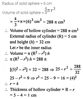 ML Aggarwal Class 10 Solutions for ICSE Maths Chapter 17 Mensuration Chapter Test 29