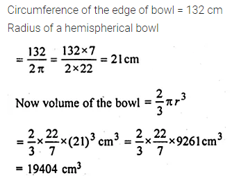 ML Aggarwal Class 10 Solutions for ICSE Maths Chapter 17 Mensuration Chapter Test 5