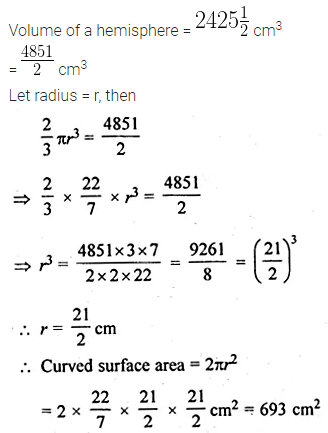 ML Aggarwal Class 10 Solutions for ICSE Maths Chapter 17 Mensuration Chapter Test 6