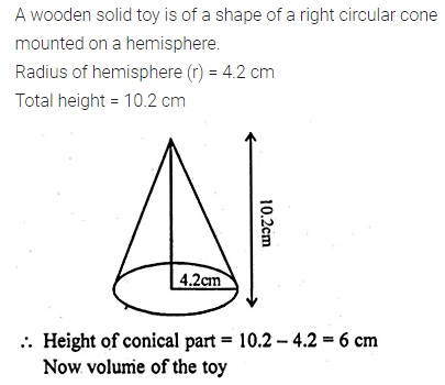 ML Aggarwal Class 10 Solutions for ICSE Maths Chapter 17 Mensuration Chapter Test 7