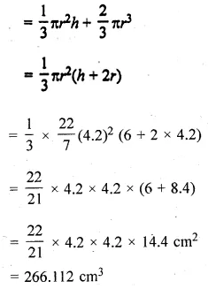 ML Aggarwal Class 10 Solutions for ICSE Maths Chapter 17 Mensuration Chapter Test 8