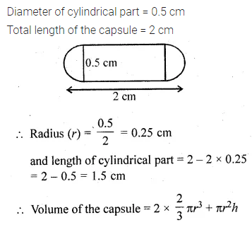 ML Aggarwal Class 10 Solutions for ICSE Maths Chapter 17 Mensuration Chapter Test 9