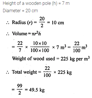 ML Aggarwal Class 10 Solutions for ICSE Maths Chapter 17 Mensuration Ex 17.1 10