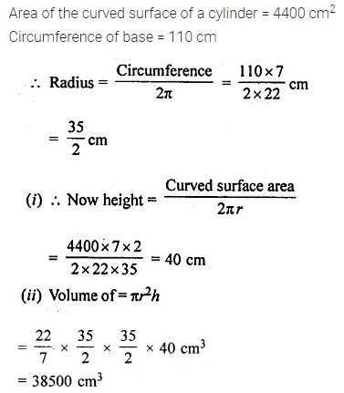 ML Aggarwal Class 10 Solutions for ICSE Maths Chapter 17 Mensuration Ex 17.1 11