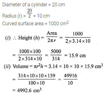 ML Aggarwal Class 10 Solutions for ICSE Maths Chapter 17 Mensuration Ex 17.1 12