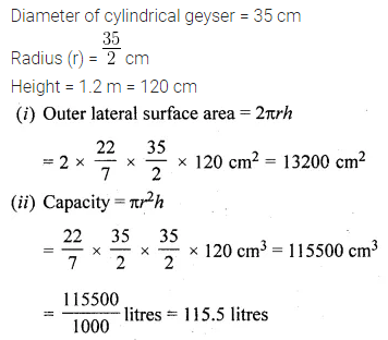ML Aggarwal Class 10 Solutions for ICSE Maths Chapter 17 Mensuration Ex 17.1 2