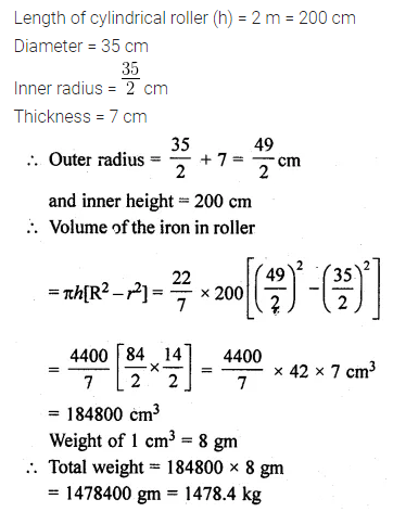 ML Aggarwal Class 10 Solutions for ICSE Maths Chapter 17 Mensuration Ex 17.1 26