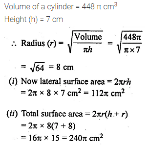 ML Aggarwal Class 10 Solutions for ICSE Maths Chapter 17 Mensuration Ex 17.1 9