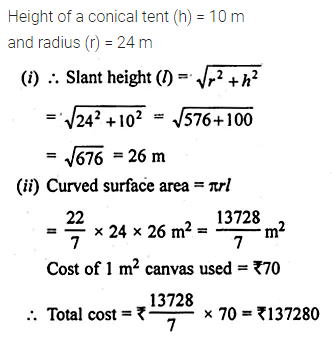 ML Aggarwal Class 10 Solutions for ICSE Maths Chapter 17 Mensuration Ex 17.2 11