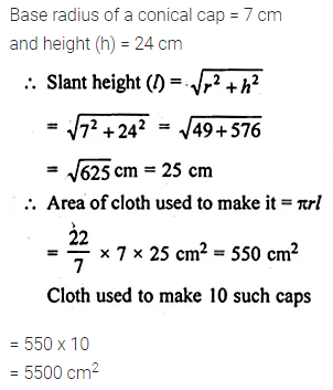 ML Aggarwal Class 10 Solutions for ICSE Maths Chapter 17 Mensuration Ex 17.2 12