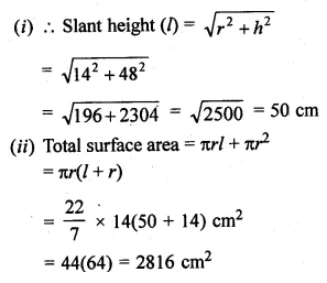 ML Aggarwal Class 10 Solutions for ICSE Maths Chapter 17 Mensuration Ex 17.2 18