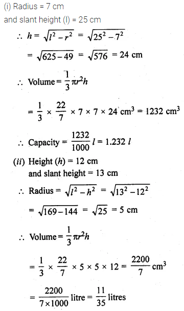 ML Aggarwal Class 10 Solutions for ICSE Maths Chapter 17 Mensuration Ex 17.2 6
