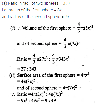 ML Aggarwal Class 10 Solutions for ICSE Maths Chapter 17 Mensuration Ex 17.3 10