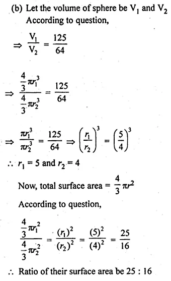 ML Aggarwal Class 10 Solutions for ICSE Maths Chapter 17 Mensuration Ex 17.3 11