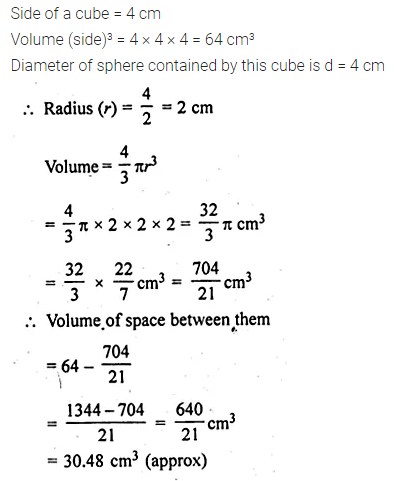 ML Aggarwal Class 10 Solutions for ICSE Maths Chapter 17 Mensuration Ex 17.3 12