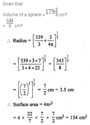 ML Aggarwal Class 10 Solutions for ICSE Maths Chapter 17 Mensuration Ex 17.3 14