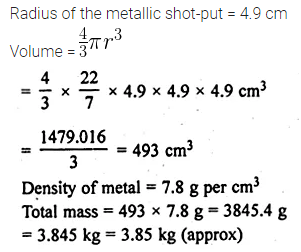 ML Aggarwal Class 10 Solutions for ICSE Maths Chapter 17 Mensuration Ex 17.3 4