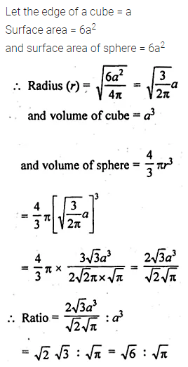 ML Aggarwal Class 10 Solutions for ICSE Maths Chapter 17 Mensuration Ex 17.3 9