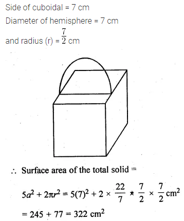 ML Aggarwal Class 10 Solutions for ICSE Maths Chapter 17 Mensuration Ex 17.4 11
