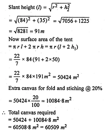 ML Aggarwal Class 10 Solutions for ICSE Maths Chapter 17 Mensuration Ex 17.4 17